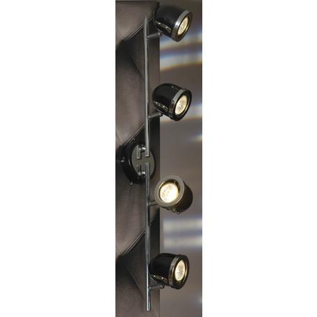 Потолочный светильник с регулировкой направления света Lussole Loft Tivoli LSN-3129-04, IP21, 4xGU10x50W, черный, металл