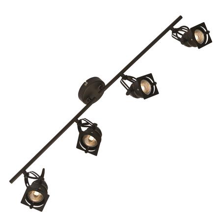 Потолочный светильник с регулировкой направления света Lussole Loft Denver LSP-9119, IP21, 4xGU10x50W, черный, металл