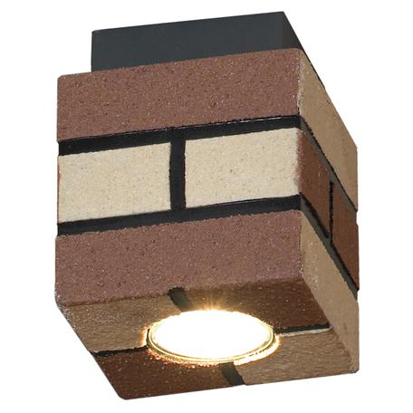 Потолочный светильник Lussole Loft Mount Vernon LSP-9687, IP21, 1xGU10x50W, черный, коричневый, металл