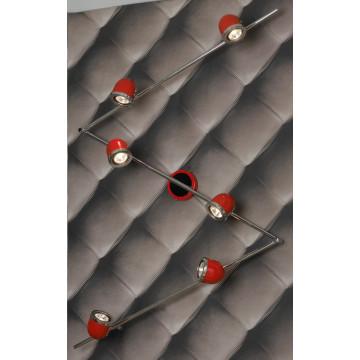 Потолочный светильник с регулировкой направления света Lussole Loft Tivoli LSN-3109-06, IP21, 6xGU10x50W, красный, металл