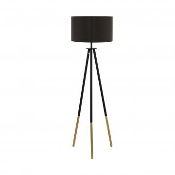Торшер Eglo Trend & Vintage Loft Bidford 49148, 1xE27x60W, коричневый, дерево, металл, текстиль