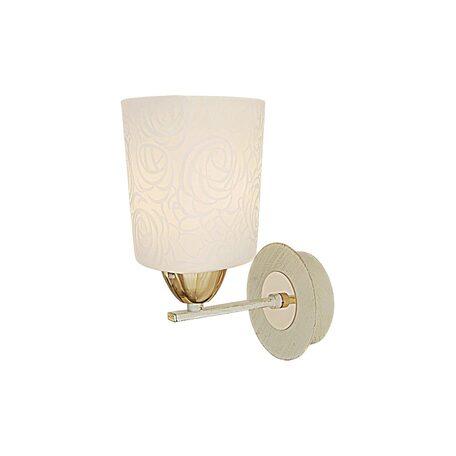 Бра Citilux Лора CL146312, 1xE27x75W, белый с золотой патиной, золото, белый, металл, стекло