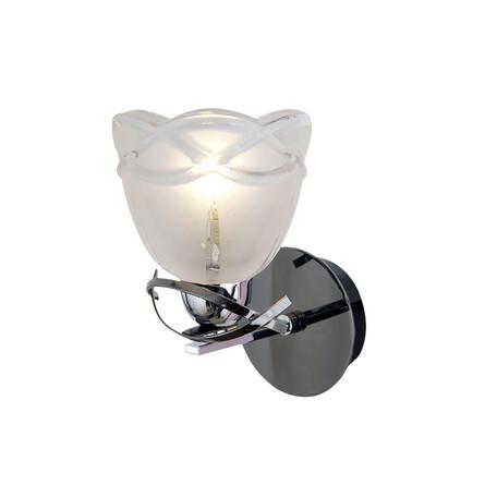 Бра Citilux Сандра CL147311, 1xE14x60W, хром, белый, металл, стекло