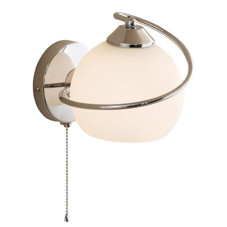 Бра Citilux Лайма CL155311, 1xE27x100W, хром, белый, металл, стекло