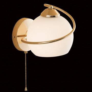 Бра Citilux Лайма CL155312, 1xE27x100W, золото, белый, металл, стекло - миниатюра 2