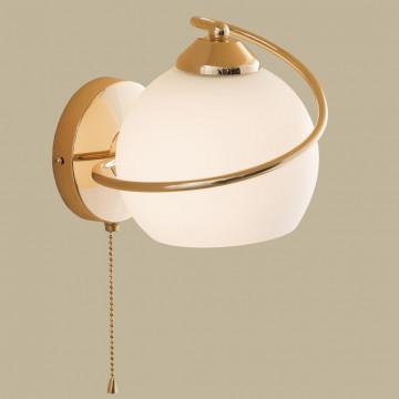 Бра Citilux Лайма CL155312, 1xE27x100W, золото, белый, металл, стекло - миниатюра 3