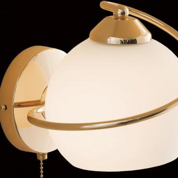 Бра Citilux Лайма CL155312, 1xE27x100W, золото, белый, металл, стекло - миниатюра 4