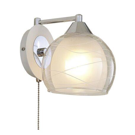 Бра Citilux Буги CL157311, 1xE27x75W, белый, хром, прозрачный, металл, стекло