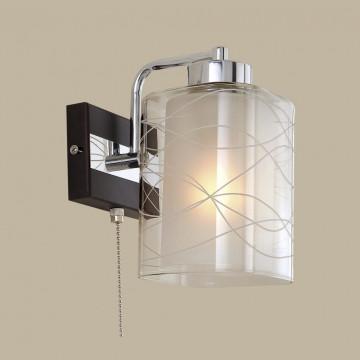 Бра Citilux Румба CL159311, 1xE27x75W, венге, хром, белый, прозрачный, металл, стекло - миниатюра 3