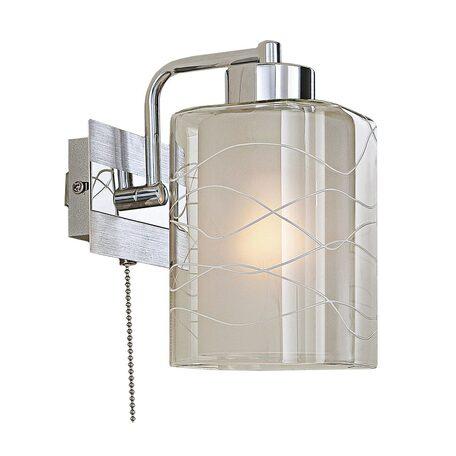 Бра Citilux Румба CL159312, 1xE27x75W, хром, белый, металл, стекло