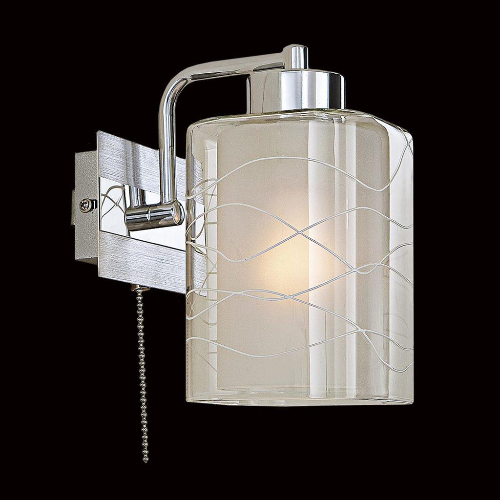 Бра Citilux Румба CL159312, 1xE27x75W, алюминий, хром, белый, прозрачный, металл, стекло - фото 2