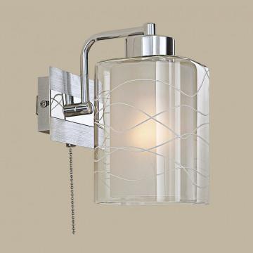 Бра Citilux Румба CL159312, 1xE27x75W, алюминий, хром, белый, прозрачный, металл, стекло - миниатюра 3