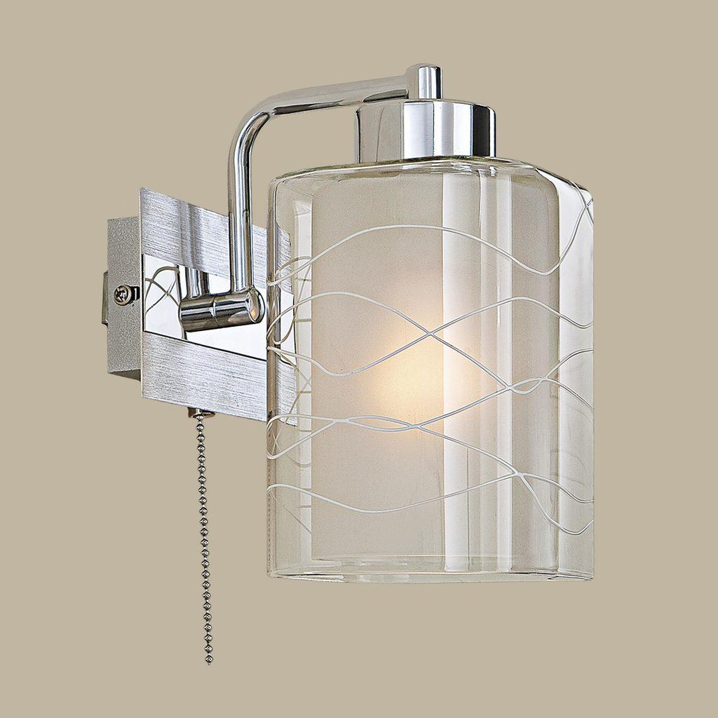 Бра Citilux Румба CL159312, 1xE27x75W, алюминий, хром, белый, прозрачный, металл, стекло - фото 3