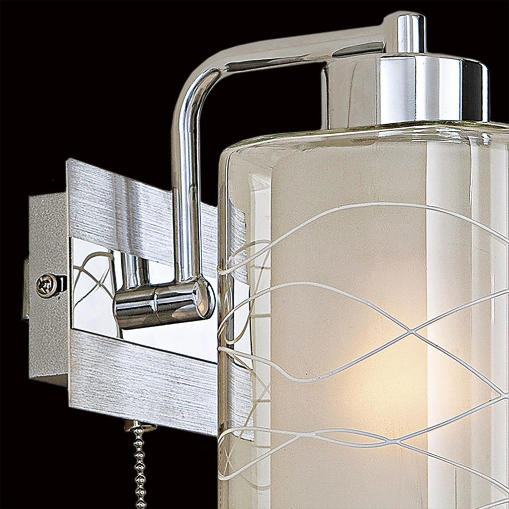 Бра Citilux Румба CL159312, 1xE27x75W, алюминий, хром, белый, прозрачный, металл, стекло - фото 4