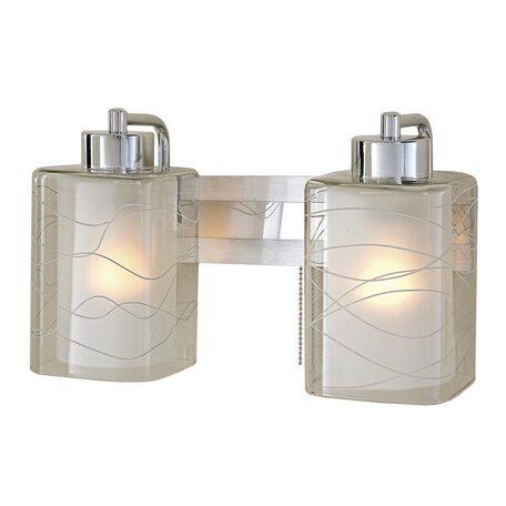 Бра Citilux Румба CL159322, 2xE27x75W, алюминий, хром, белый, прозрачный, металл, стекло
