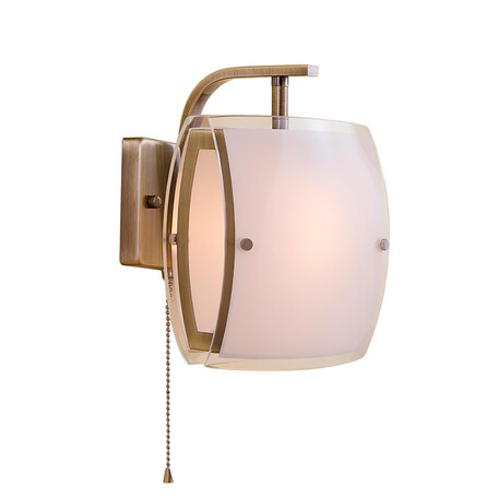 Бра Citilux Берген CL161313, 1xE27x75W, бронза, белый, металл, стекло