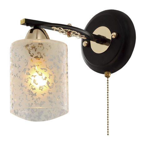 Бра Citilux Мотив CL166311, 1xE14x60W, венге, золото, белый, металл, стекло