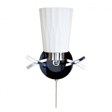 Настенный светильник с регулировкой направления света Citilux Димона CL148311, 1xE27x75W, хром, черный, белый, металл, стекло