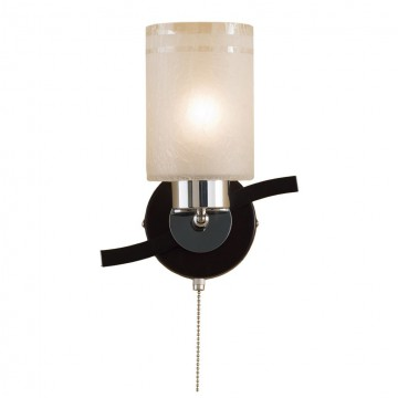 Настенный светильник с регулировкой направления света Citilux Фортуна CL156311, 1xE27x75W, венге, хром, белый, металл, стекло