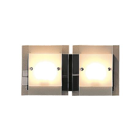 Настенный светильник Citilux Сантона CL210325, 2xG9x40W, венге, хром, белый, прозрачный, металл, стекло