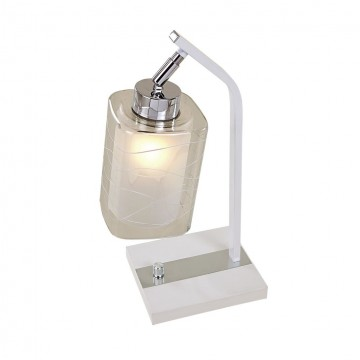 Настольная лампа Citilux Румба CL159810, 1xE27x75W, белый, хром, прозрачный, металл, стекло