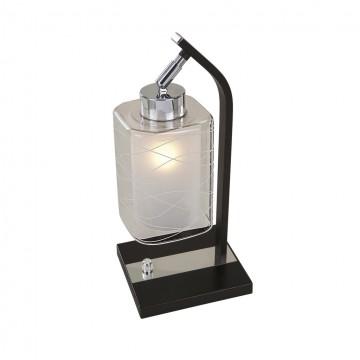 Настольная лампа Citilux Румба CL159811, 1xE27x75W, венге, хром, белый, прозрачный, металл, стекло