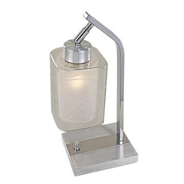 Настольная лампа Citilux Румба CL159812, 1xE27x75W, алюминий, хром, белый, прозрачный, металл, стекло
