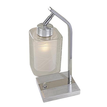 Настольная лампа Citilux Румба CL159812, 1xE27x75W, хром, белый, металл, стекло