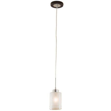 Подвесной светильник Citilux Фортуна CL156111, 1xE27x75W, венге, хром, белый, металл, стекло