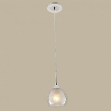 Подвесной светильник Citilux Буги CL157111, 1xE27x75W, белый, хром, прозрачный, металл, стекло - миниатюра 3