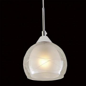 Подвесной светильник Citilux Буги CL157111, 1xE27x75W, белый, хром, прозрачный, металл, стекло - миниатюра 4
