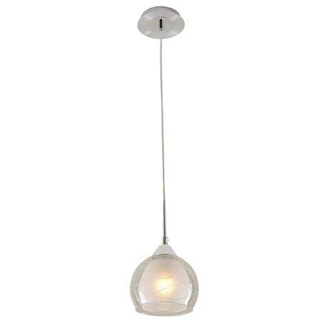 Подвесной светильник Citilux Буги CL157112, 1xE27x75W, алюминий, хром, белый, прозрачный, металл, стекло