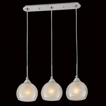 Подвесной светильник Citilux Буги CL157132, 3xE27x75W, алюминий, хром, белый, прозрачный, металл, стекло - миниатюра 2