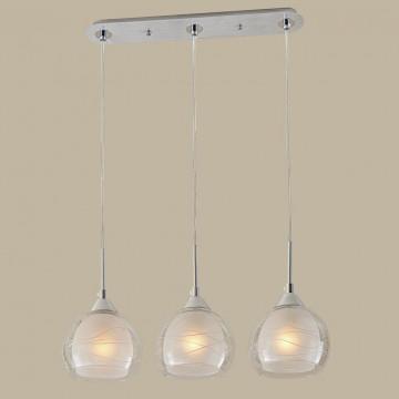 Подвесной светильник Citilux Буги CL157132, 3xE27x75W, алюминий, хром, белый, прозрачный, металл, стекло - миниатюра 3