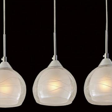 Подвесной светильник Citilux Буги CL157132, 3xE27x75W, алюминий, хром, белый, прозрачный, металл, стекло - миниатюра 4