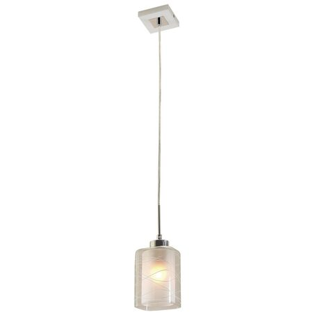 Подвесной светильник Citilux Румба CL159110, 1xE27x75W, белый, хром, прозрачный, металл, стекло