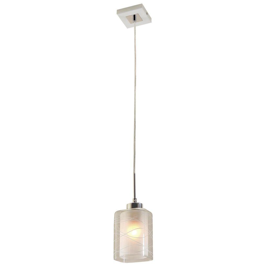 Подвесной светильник Citilux Румба CL159110, 1xE27x75W, белый, хром, металл, стекло - фото 1