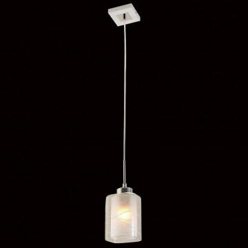 Подвесной светильник Citilux Румба CL159110, 1xE27x75W, белый, хром, металл, стекло - миниатюра 2