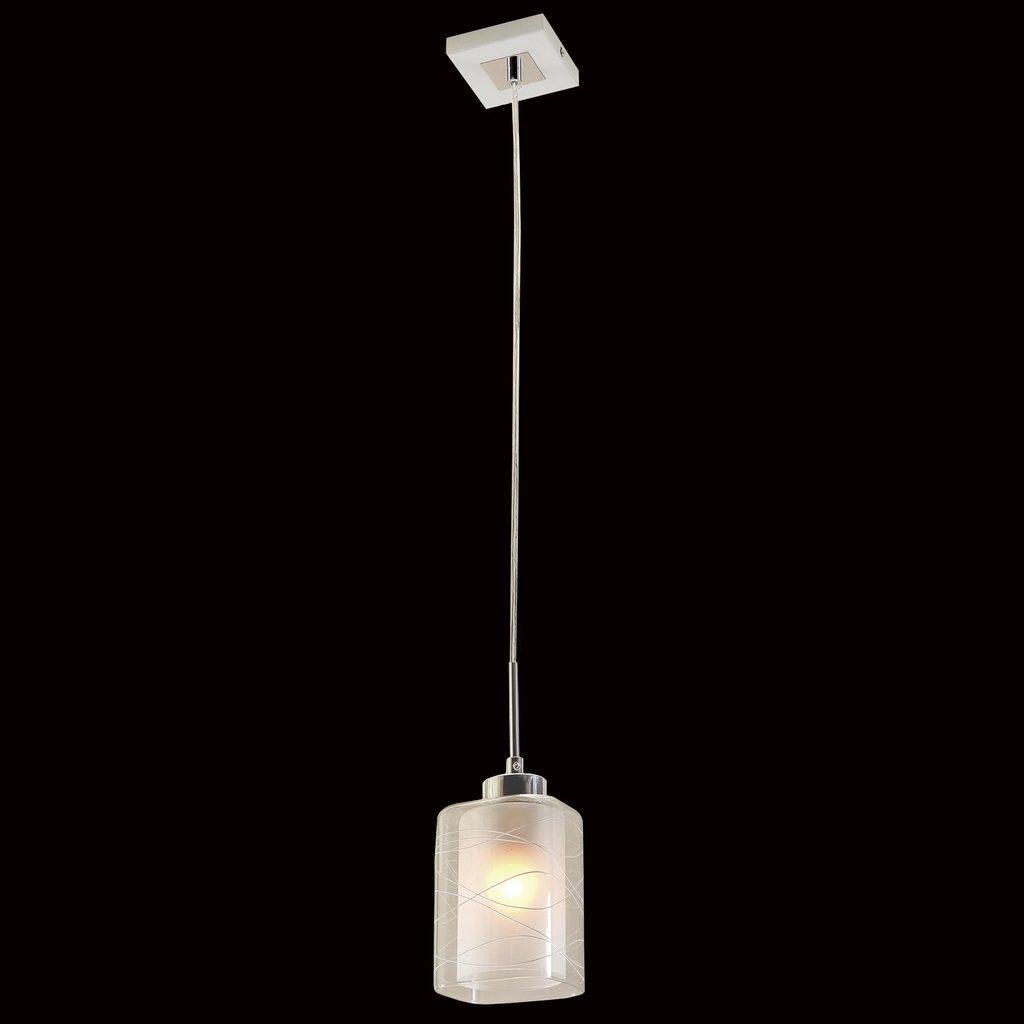 Подвесной светильник Citilux Румба CL159110, 1xE27x75W, белый, хром, металл, стекло - фото 2