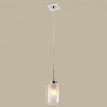 Подвесной светильник Citilux Румба CL159110, 1xE27x75W, белый, хром, металл, стекло - миниатюра 3