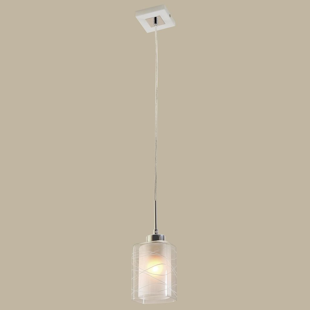 Подвесной светильник Citilux Румба CL159110, 1xE27x75W, белый, хром, металл, стекло - фото 3