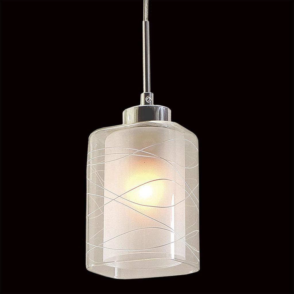 Подвесной светильник Citilux Румба CL159110, 1xE27x75W, белый, хром, металл, стекло - фото 4