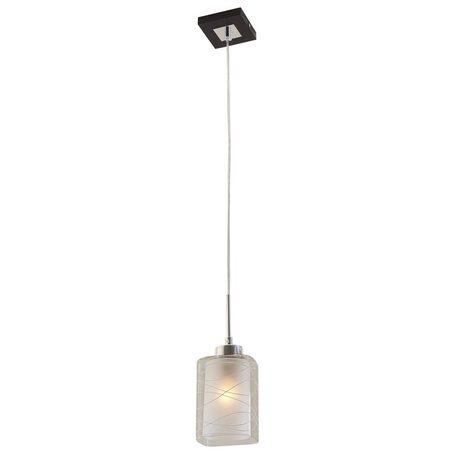 Подвесной светильник Citilux Румба CL159111, 1xE27x75W, венге, белый, прозрачный, металл, стекло