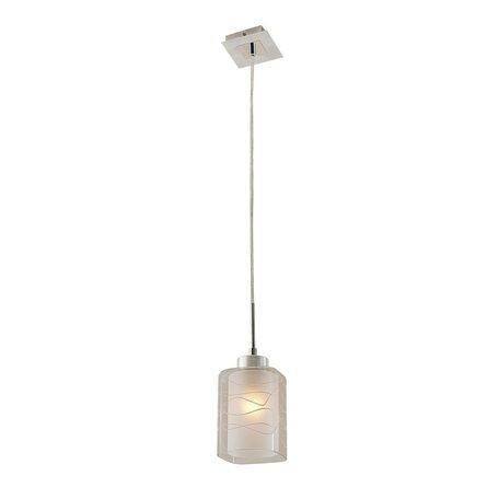 Подвесной светильник Citilux Румба CL159112, 1xE27x75W, хром, белый, металл, стекло