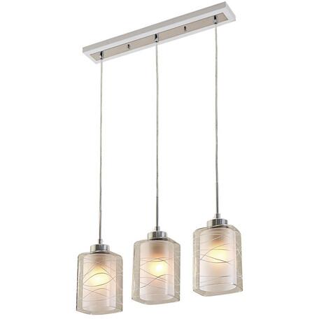 Подвесной светильник Citilux Румба CL159130, 3xE27x75W, белый, хром, металл, стекло