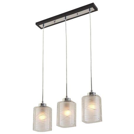 Подвесной светильник Citilux Румба CL159131, 3xE27x75W, венге, белый, прозрачный, металл, стекло