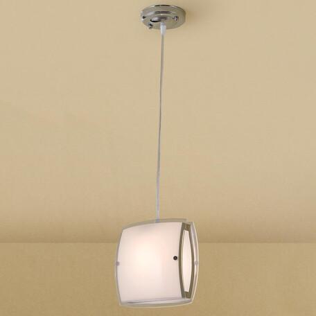 Подвесной светильник Citilux Берген CL161111, 1xE27x75W, хром, белый, металл, стекло