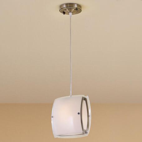 Подвесной светильник Citilux Берген CL161113, 1xE27x75W, бронза, белый, металл, стекло