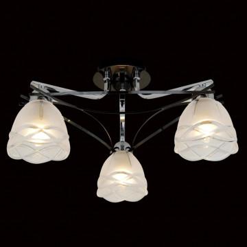 Потолочная люстра Citilux Сандра CL147131, 3xE14x60W, хром, белый, металл, стекло - миниатюра 2