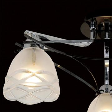 Потолочная люстра Citilux Сандра CL147131, 3xE14x60W, хром, белый, металл, стекло - миниатюра 4